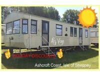 ALS VAN: HOLIDAY DISCOUNTS: Ashcroft Coast, Isle of Sheppey: 3-bed (8-berth) static caravan