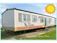 THE FERNS: HOLIDAY DISCOUNTS: Lyons Robin Hood, Rhyl: 3-bed 8-berth static caravan HOLIDAY LETS ONLY
