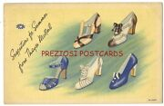 Linen Advertising Postcard