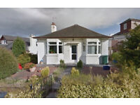 2 bedroom detached bungalow with front/ back garden in a sought after residential area in Edinburgh