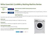 LIKE NEW WASHING MACHINE £75--MUST GO BY SATURDAY!