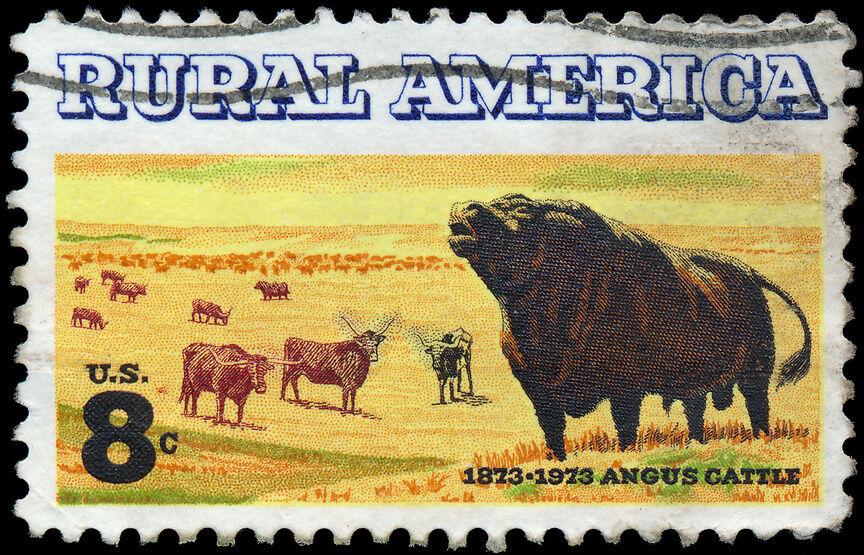 Briefmarken und andere Sammlerobjekte mit Rindermotiven