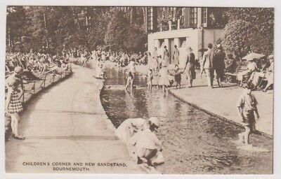 Dorset Postkarte - Kinder Ecke & Musikpavillon, Bournemouth (A1098)