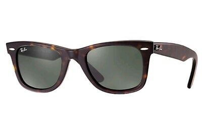 Ray Ban Tortoise Frame - Ray-Ban Original WAYFARER Dark Tortoise/Black Sunglasses RB 2140 902 Frame 50mm
