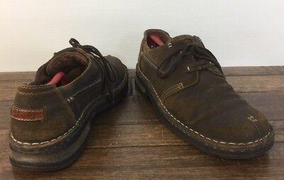 Clarks Leather Casual Shoe Men 12 Split Toe 35166 Clean No Damage