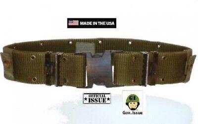 Alice Bekleidung (US Army GI Issue ALICE LC2 Lochkoppel Equipment Belt Gürtel Koppel OD Green oliv)