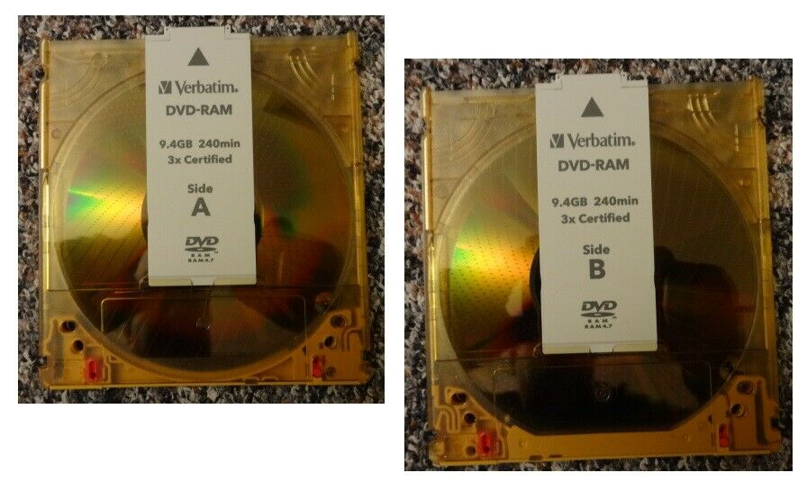 Verbatim DVD-RAM Rohling 9,4 GB 240 Minuten 3X Speed Cartridge (Neu)