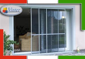 Zanzariera porta finestra a 2 pannelli scorrevoli in for Altezza porta finestra