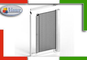 Zanzariera porta finestra laterale a molla su misura for Zanzariera porta finestra