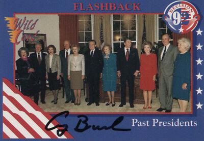 George H W  Bush   Trading Sports Card Signed