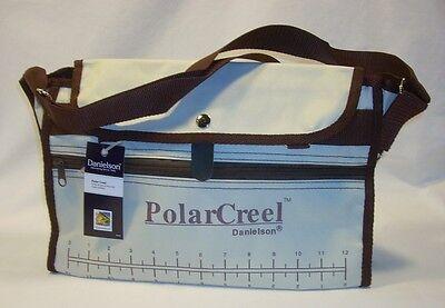 Danielson Cream   Brown Canvas Fishing Polar Creel Bag W Adjustable Strap