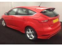 2015 RED FORD FOCUS 1.5 TDCI 120 ZETEC S DIESEL 5DR HATCH CAR FINANCE FR £33 PW