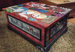 Alice in Wonderland Trunk - One of a Kind
