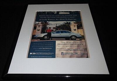 Tiger Woods 2001 Buick Framed 11x14 ORIGINAL Advertisement