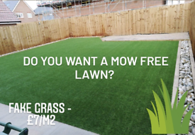 ARTIFICIAL FAKE GRASS FROM £7/M2