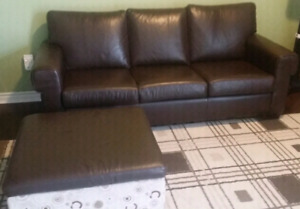 Price Reduced to Sell. Leather Sofa/Love Seat/Storage Ottoman