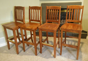 Stained Wooden Bar Chairs Windsor Region Ontario image 1