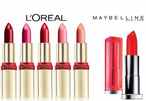 6 brand new lipsticks (L'oréal and Maybelline)
