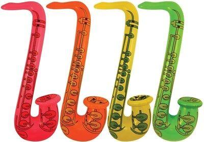 Inflatable Blow Up Saxophone Jazz Music 60s 70s 80s Disco Fancy Dress Party Prop (Blow Up Saxophone)
