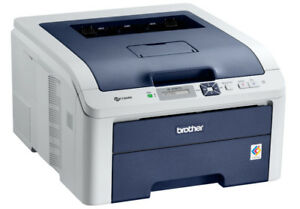 Color laser printer: Brother HL-3040CN , network, low page count