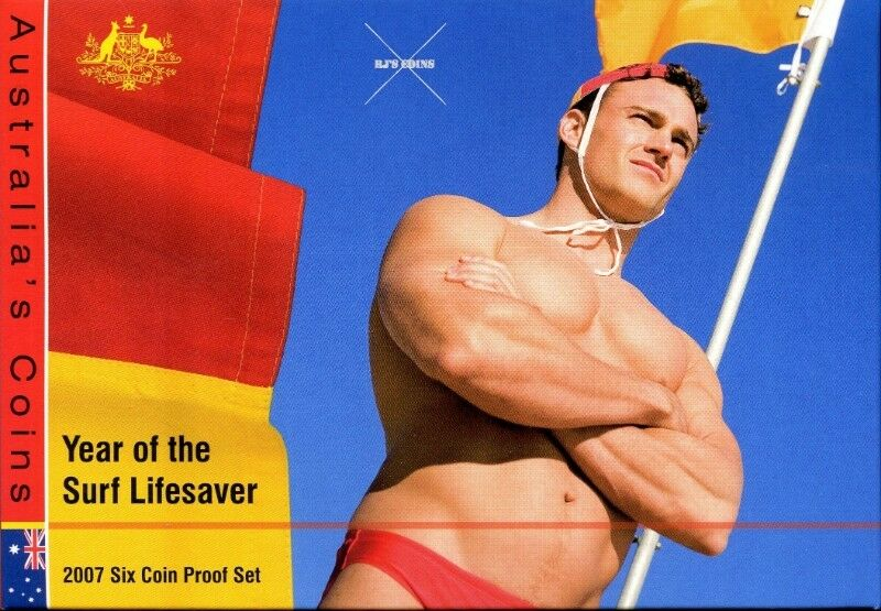 Australian 2007 Proof Six Coin Year Set from the Royal Australian Mint – Year of the Surf Lifesaver