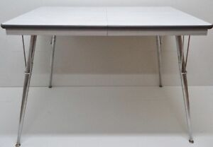 FREE DELIVERY Mid C. SPACE AGE Dining TABLE Chrome Antique