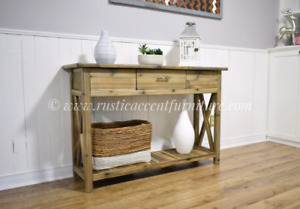 Rustic console table - new (breadboard top)