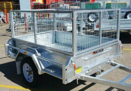 STONEGATE 7x4 Premium Box Trailer with 600MM Cage Rocklea Brisbane South West Preview