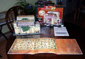 Very Rare-double-sided 3D  SISTINE CHAPEL Wrebbit puzzle London Ontario image 5