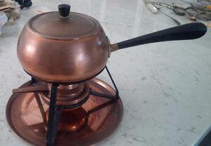 Copper Fondue Pot Kitchener / Waterloo Kitchener Area image 1