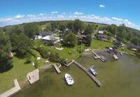 petite maison à St-Anicet, accès privé au lac St-françois