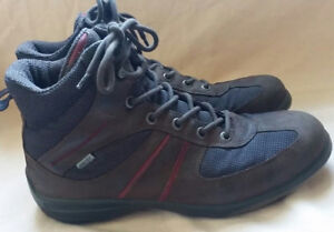 ECCO Gore Tex Brown Leather Mesh Hiking Shoes Boots 7.5
