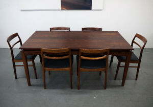 Rosewood Dining Table & Chairs- Made in Denmark