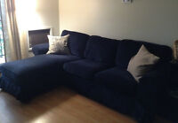 EKTORP sofa (loveseat and chaise) from IKEA - mint condition