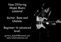 Music lessons in guitar, bass, ukelele and theory