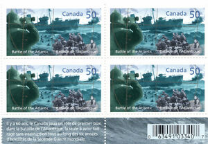 Canada Stamps - Battle of the Atlantic 60th Anniversary 50c (4) West Island Greater Montréal image 1