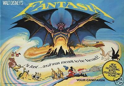 Walt Disney's Fantasia movie poster print - 8.25 x 11.5 inches