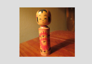 Japanese Kokeshi Wood carved doll figurine