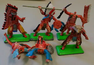 6 BRITAINS 1971 DEETAIL WWII INDIAN TOY SOLDIERS, England