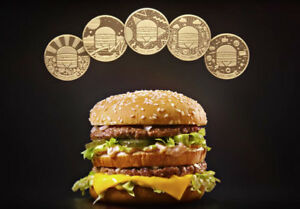 McDonald's MacCoin Big Mac 50th Anniversary Coin RARE $20/ea