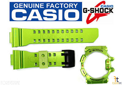 CASIO G-Shock G'Mix GBA-400-3B Original Green Rubber Watch BAND & BEZEL Combo for sale  Pasadena