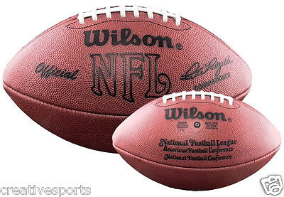 OFFICIAL WILSON NFL LEATHER GAME FOOTBALL 1977-1990 - F1006 - PETE - Official Nfl Game Football