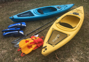 Almost New Kayak Pair with Accessories