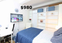 $780 LUXURY DOWNTOWN ROOMS, HIGHRISE CONDO, ALL INCLUDED, FURNIS