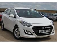 2016 HYUNDAI I30 1.6 CRDI SE BLUE DRIVE ESTATE WHITE JUST SERVICED + LOW MILES