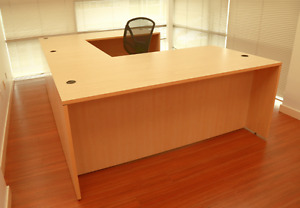 2 Office Desks With Bridge For Sale _Moving Must Sell