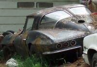 Wanted 1963 Chevrolet corvette split window any condition ASAP