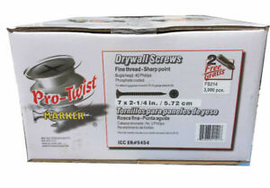"Pro-Twist 1"" or 2-1/4"" Fine Drywall Screws"