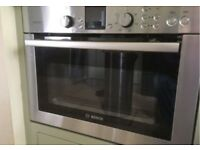 Bosch HTHB84K Integrated/Built-In Combination Microwave Oven - Brushed Stainless Steal - HBC84K550B