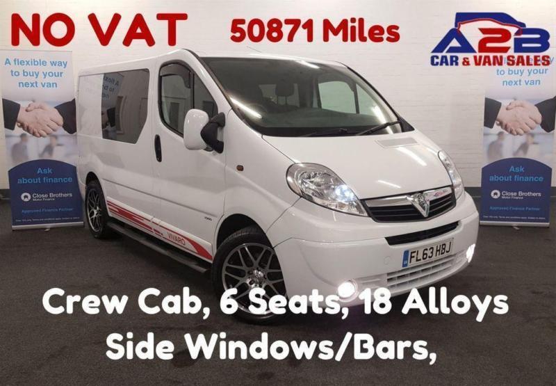 f7f8b397f7 2013 63 VAUXHALL VIVARO 2.0 2900 CDTI 115 BHP + NO VAT+ CREW CAB (6 SEATS)